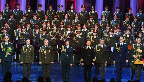 Выступление ансамбля песни и пляски Российской армии имени А. В. Александрова. Архивное фото