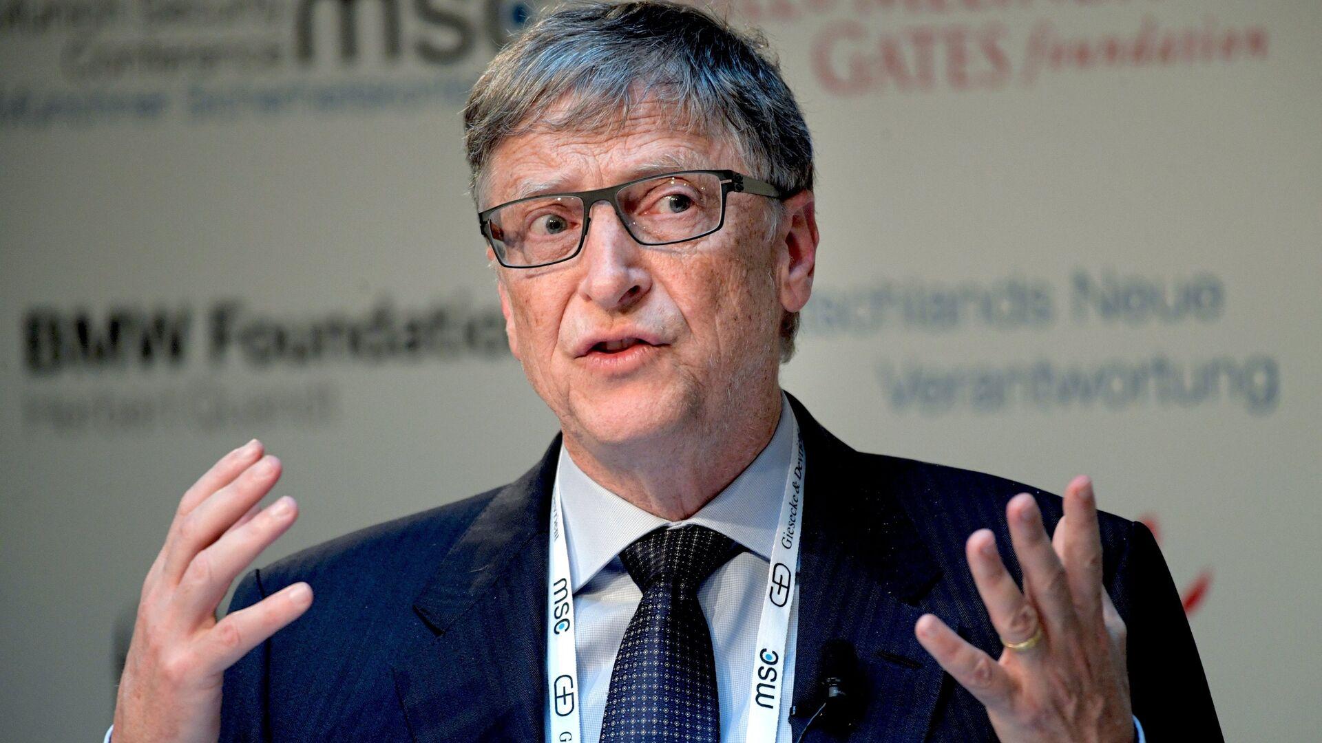 Бывший генеральный директор Microsoft Билл Гейтс на 53-й Мюнхенской конференции по безопасности - РИА Новости, 1920, 12.10.2020