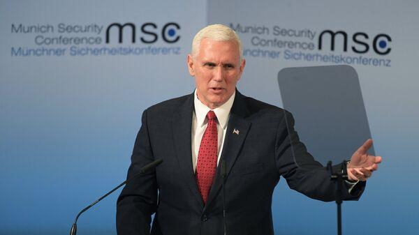 Вице-президент США Майк Пенс на 53-й Мюнхенской конференции по безопасности