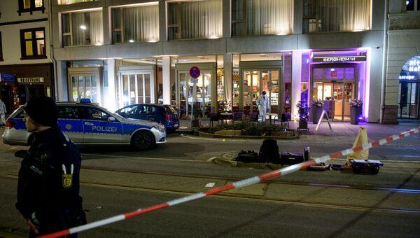 Полиция на месте наезда на пешеходов в Гейдельберге