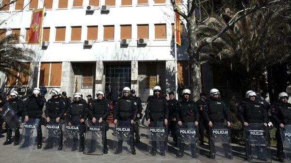 Сотрудники полиции Черногории