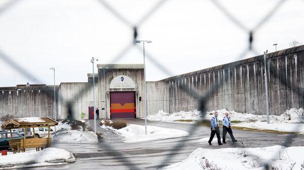 Тюрьма Skien prison, в которой содержится норвежский террорист Андерс Брейвик. 2016 год