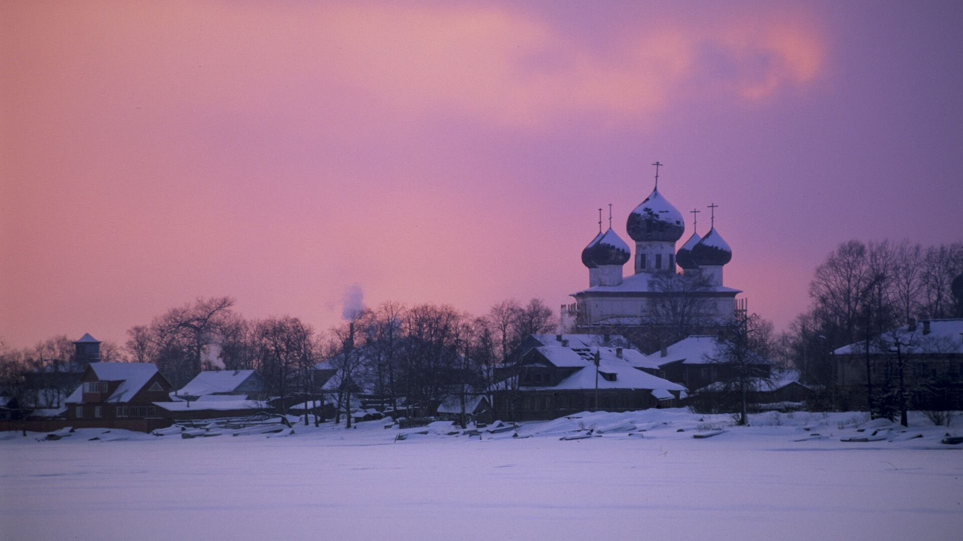 Закат солнца в Архангельской области - РИА Новости, 1920, 05.02.2021