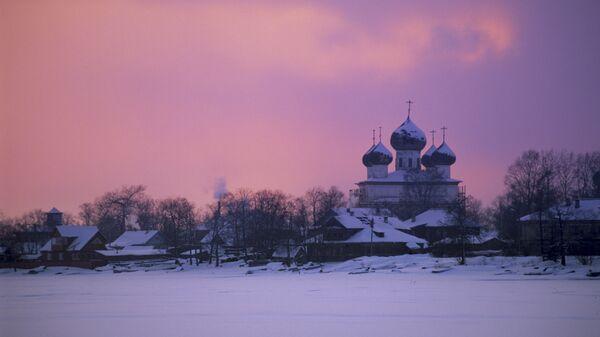 Закат солнца в Архангельской области