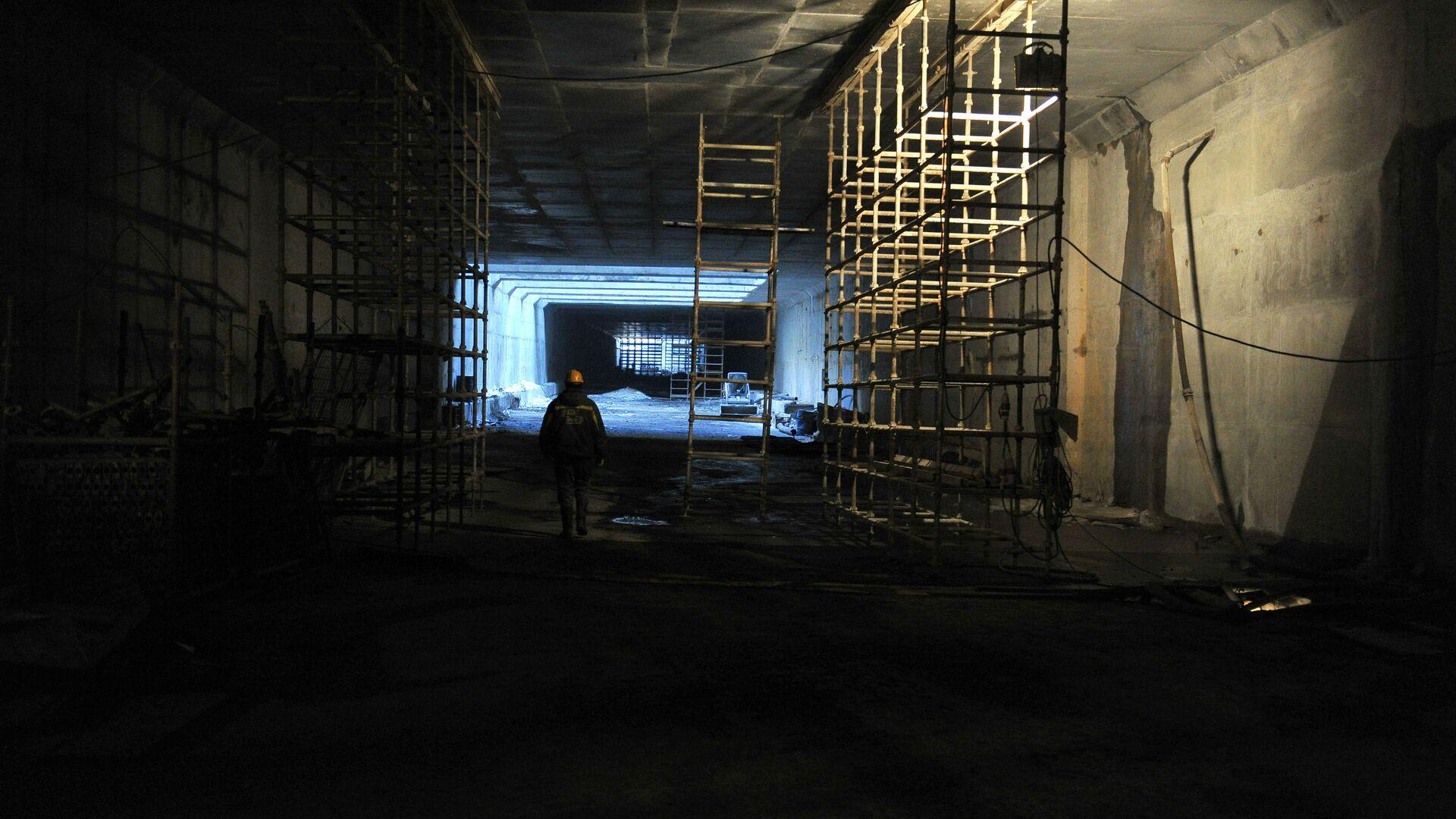 Строительство тоннеля - РИА Новости, 1920, 31.08.2021