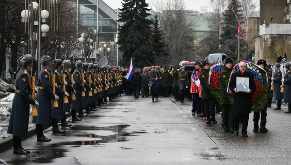 Церемония прощания с хоккеистом Владимиром Петровым. 2 марта 2017