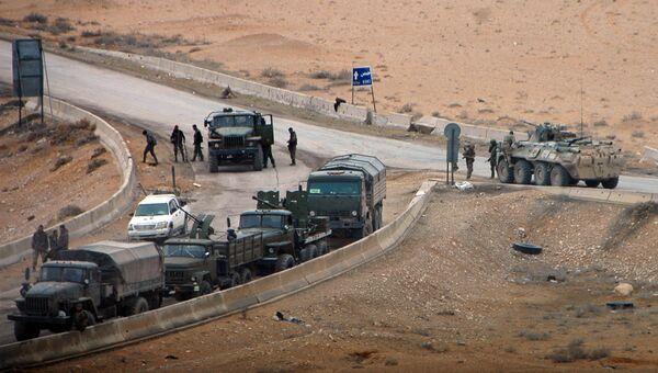 Военная техника сирийской армии в районе Пальмиры, архивное фото
