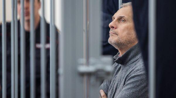 Бывший губернатор Сахалинской области Александр Хорошавин, обвиняемый в получении взяток, на заседании Южно-Сахалинского городского суда. 6 марта 2017