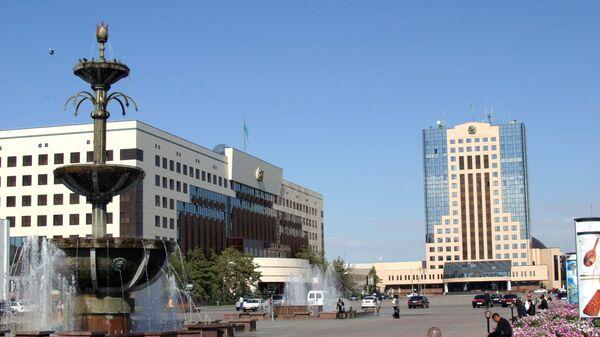 На центральной площади Астаны. Архивное фото