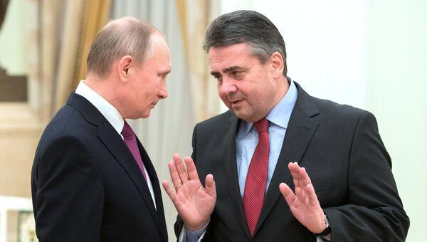 Президент РФ Владимир Путин и министр иностранных дел Германии Зигмар Габриэль. 9 марта 2017