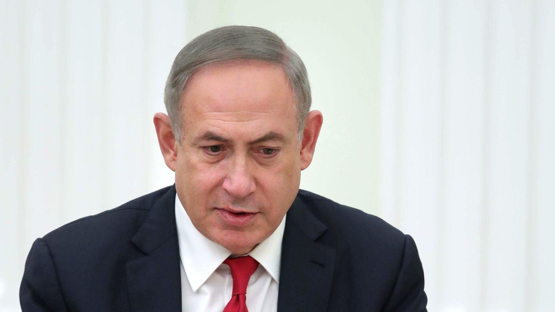 Премьер-министр Израиля Биньямин Нетаньяху во время встречи с президентом РФ Владимиром Путиным. 9 марта 2017 - РИА Новости, 1920, 20.12.2020