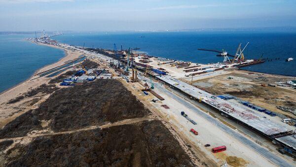 Строительство транспортного перехода через Керченский пролив. Архивное фото