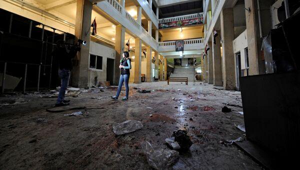 Корреспондент на месте взрыва в здании Дворца правосудия в Дамаске. 15 марта 2017