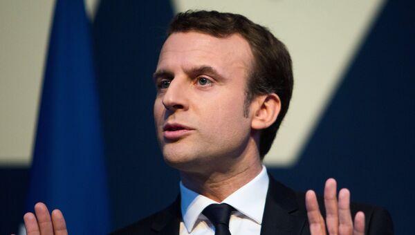 Кандидат в президенты Франции, лидер движения En Marche Эммануэль Макрон. Архивное фото