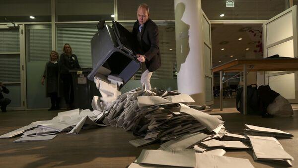 Подсчет голосов на парламентских выборах в Нидерландах