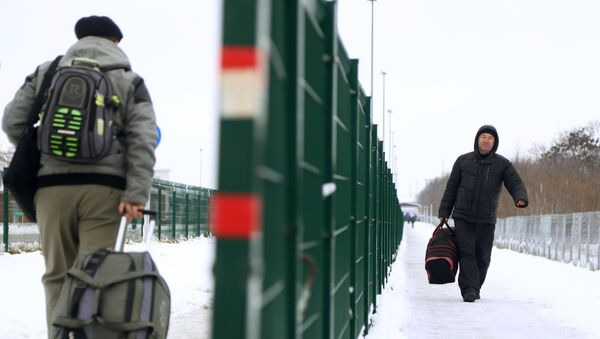 Пункт пропуска Нехотеевка на российско-украинской границе в Белгородской области. Архивное фото