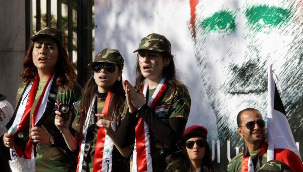 Граффити с изображением Башара Асада в Дамаске, Сирия. Архивное фото