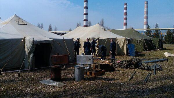 Пожар на складе боеприпасов в городе Балаклея Харьковской области. 23 марта 2017