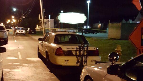 Полицейские автомобили у ночного клуба в Огайо. Архивное фото
