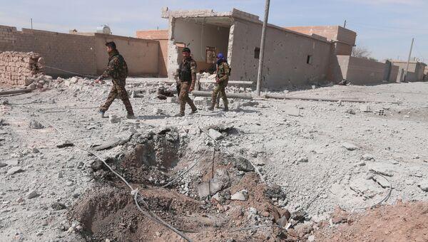 Члены организации Демократические силы Сирии (ДСС) в окрестностях Ракки. 26 марта 2017