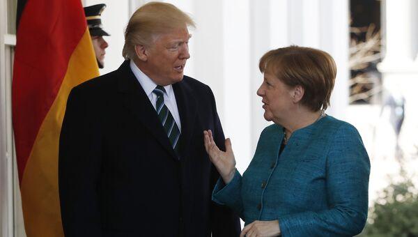 Канцлер Германии Ангела Меркель и президент США Дональд Трамп. Архивное фото
