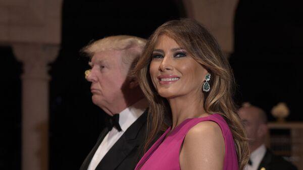 Президент США Дональд Трамп и первая леди Меланья Трамп. Архивное фото