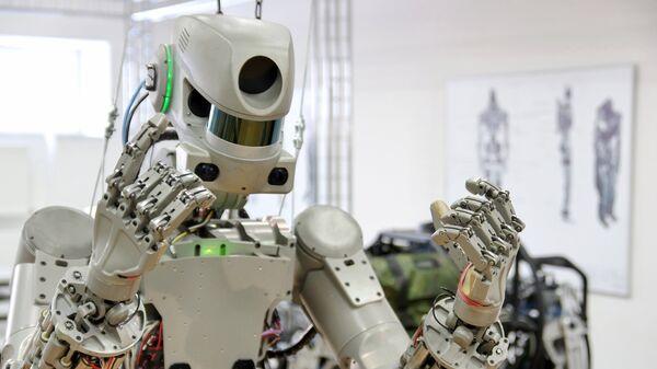Антропоморфный робот Федор. Архивное фото