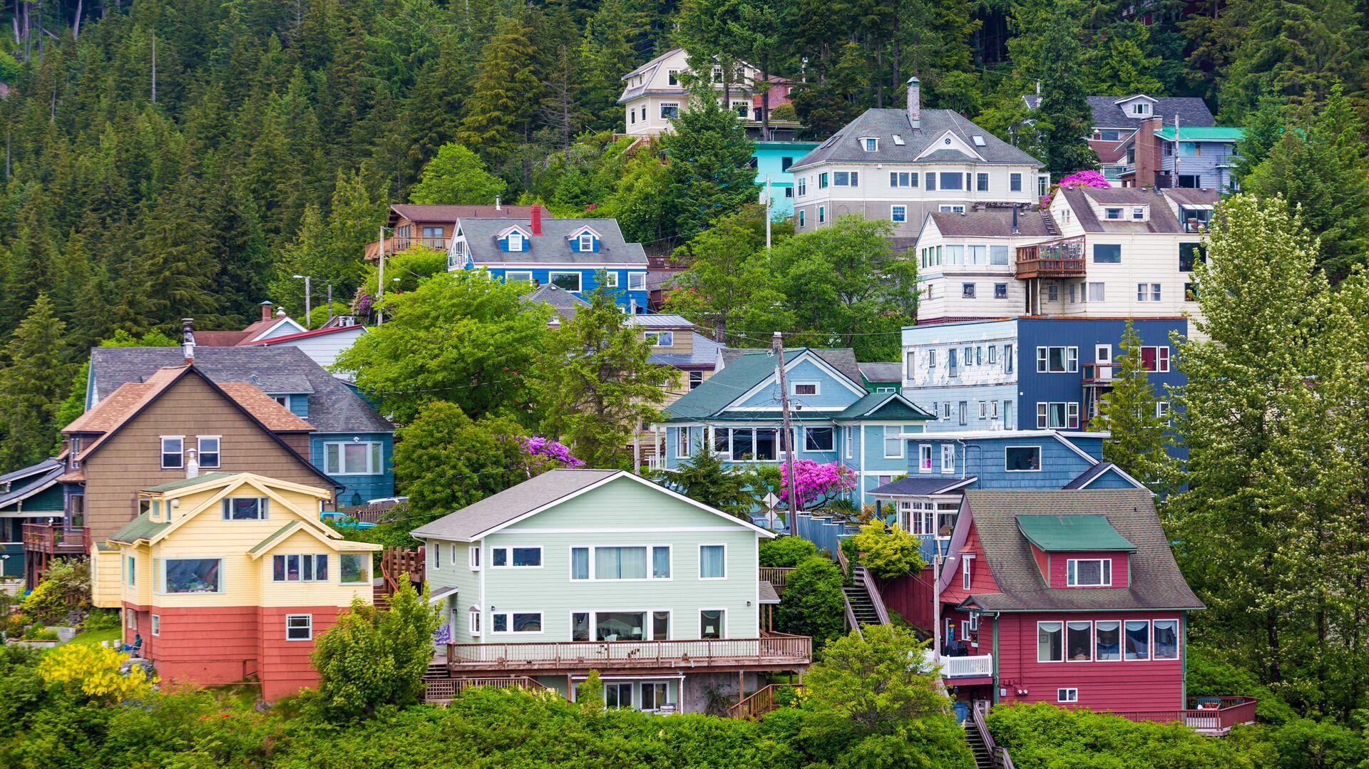 Цветные дома в Кетчикане, Аляска - РИА Новости, 1920, 22.10.2020
