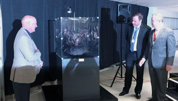 Открытие бюста первого космонавта Юрия Гагарина в американском городе Колорадо-Спрингс. 2 апреля 2017