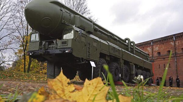 Ракетная установка грунтового базирования Тополь, снятая с боевого дежурства в рамках действия Договора о сокращении наступательных вооружений