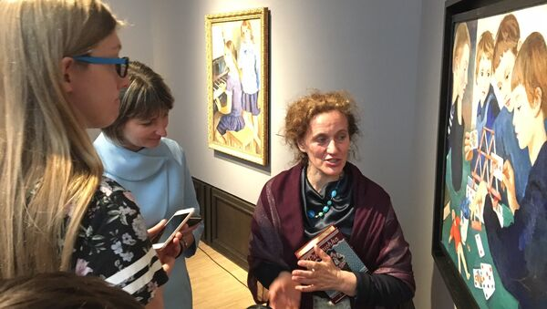 На выставке Зинаиды Серебряковой в Третьяковской галерее в Москве