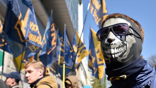 Акция протеста радикалов на Украине. Архивное фото