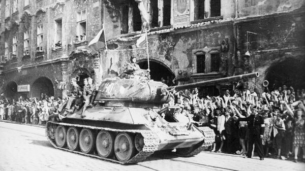 Танк Т-34 в Праге