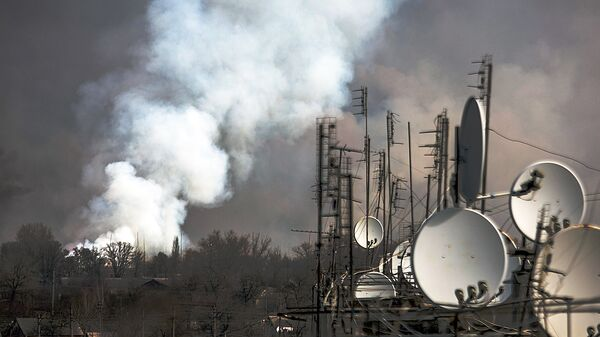 Пожар на военных складах боеприпасов в Харьковской области. Архивное фото