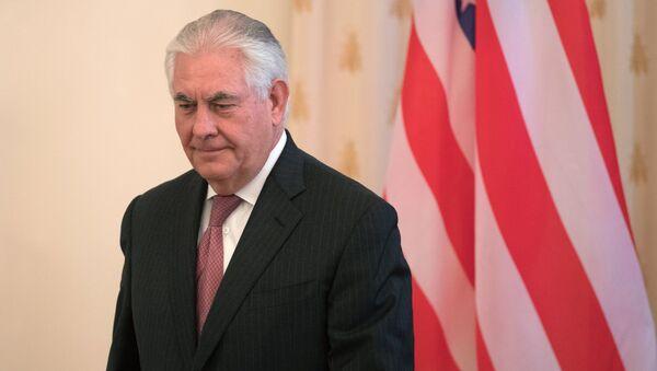 Государственный секретарь США Рекс Тиллерсон во время переговоров в Москве