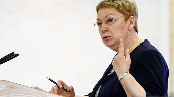 Ольга Васильева во время парламентских слушаний, посвященных безопасности в интернете