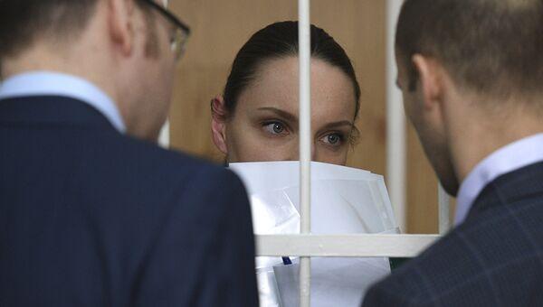Рассмотрение дела в отношении президента Внешпромбанка Ларисы Маркус и Екатерины Глушаковой в Хамовническом суде Москвы. Архивное фото