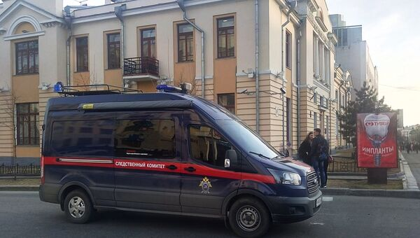 Автомобиль Следственного комитета на улице Хабаровска. 21 апреля 2017