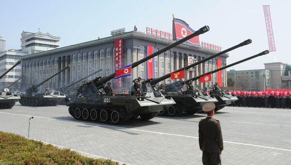 Военный парад в Пхеньяне. Архивное фото