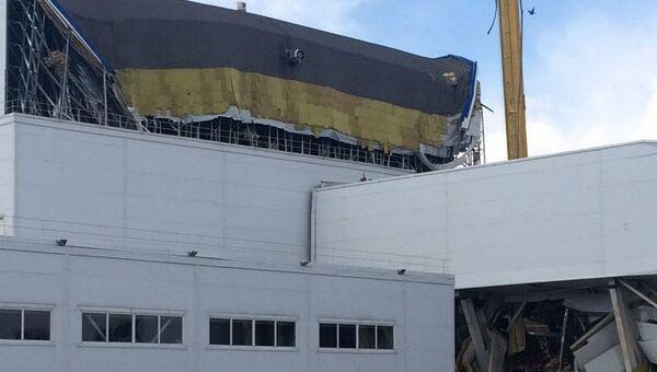 Обрушение склада на территории сокового завода в Липецкой области