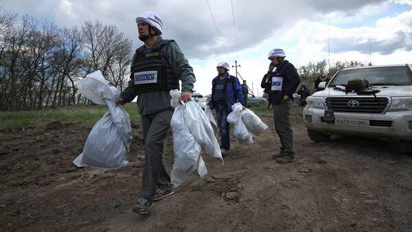 Представители миссии ОБСЕ на Украине посетили место взрыва машины ОБСЕ в Луганской области