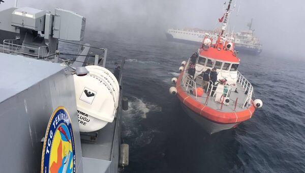 Операция по спасению экипажа судна Лиман в Черном море