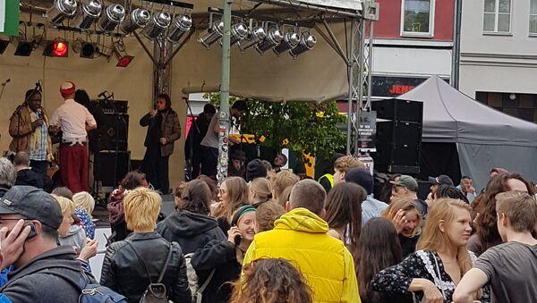 Несанкционированная акция в берлинском районе Кройцберн 1 мая