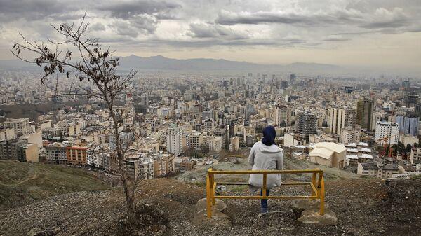 Вид на Тегеране, Иран. Архивное фото