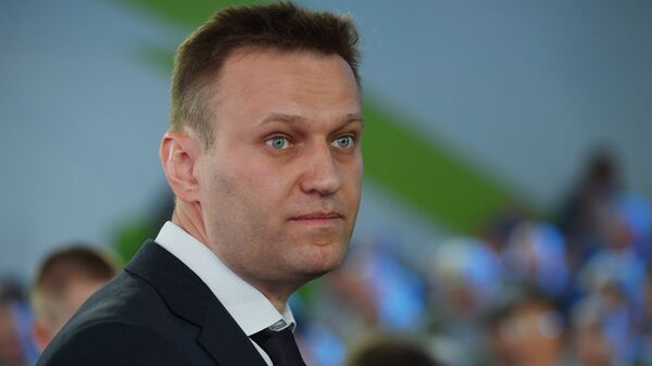 Юрист, политик Алексей Навальный на годовом общем собрании акционеров Сбербанка. Май 2016 года