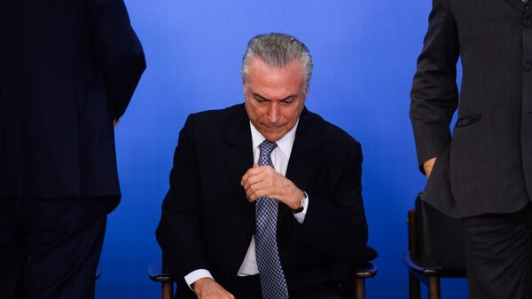 Президент Бразилии Мишел Темер. Архивное фото