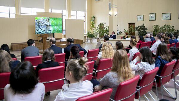 Сергей Иванов провел открытый урок, посвященный дальневосточному леопарду