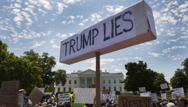 Акция протеста в Вашингтоне. Архивное фото