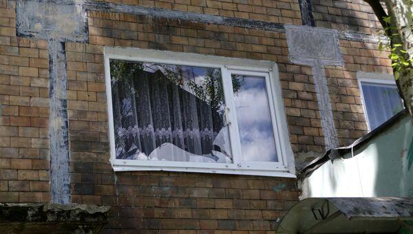 Последствия обстрела в Куйбышевском районе Донецка. Архивное фото