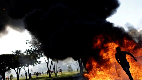 Акция противников президента Бразилии Мишела Темера